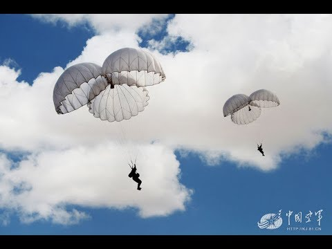 Live-fire combat training by Chinese airborne troops in Wuhan, Hubei Province
