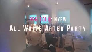 All White NYFW Afterparty Pop Up Shop