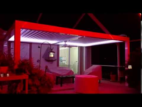 dual zone color changing LED pool enclosure lighting & dual zone color changing LED pool enclosure lighting - YouTube