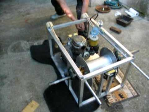 how to make regular winch portable