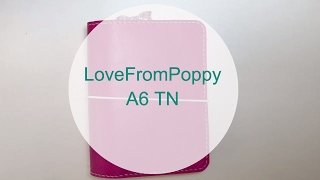 lovefrompoppy a6 travelers notebook