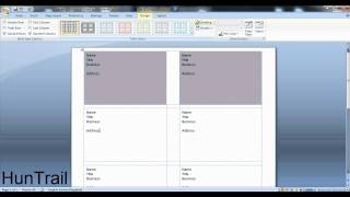 how to make a business card on microsoft word HD