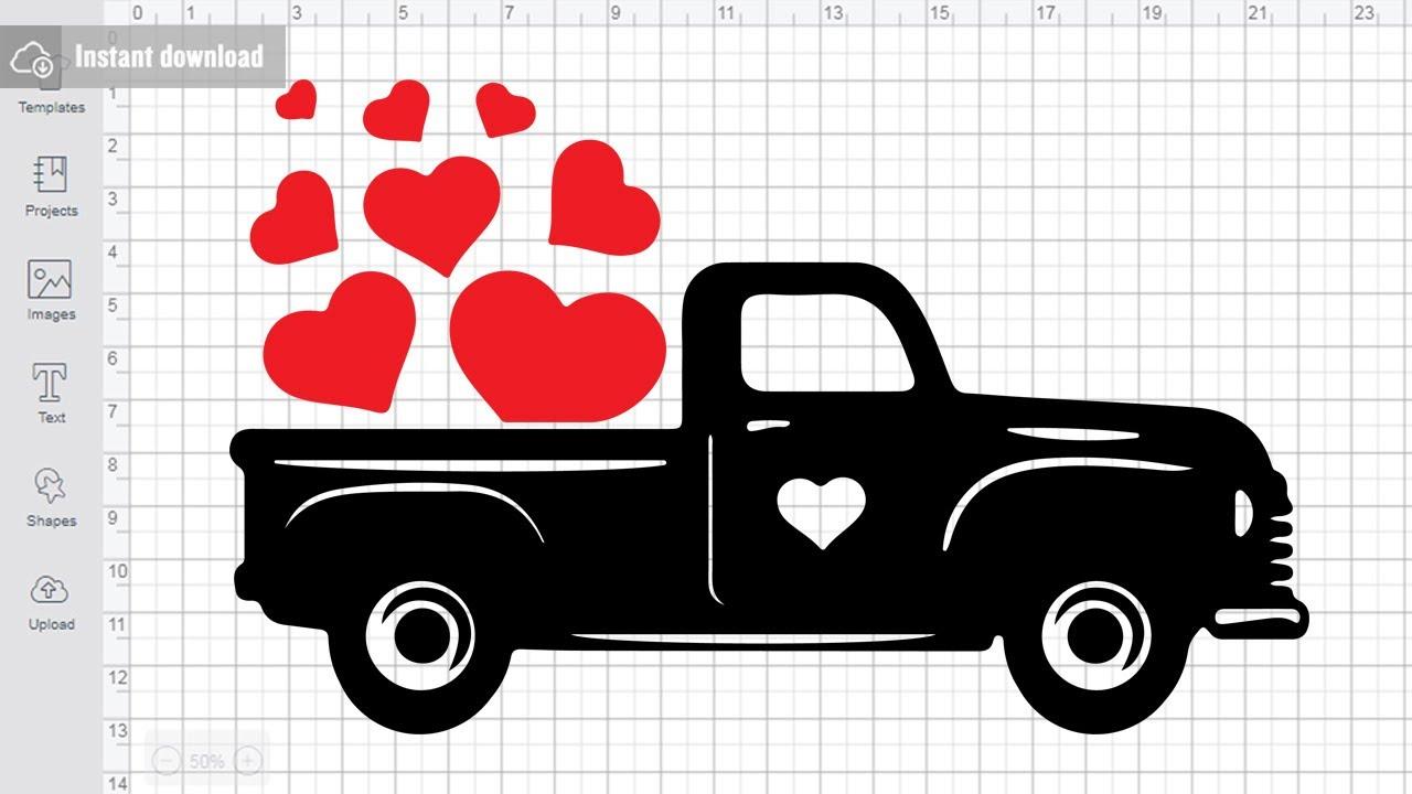 Valentine Truck Svg Free Cutting Files for Cricut ...