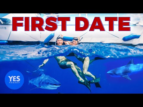 THE WORLDS MOST DARING TINDER DATE (Cage-less Shark Diving)