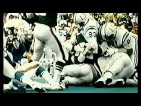 1972 Colts vs Dolphins part 1 radio video merg