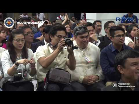 Meeting with the Filipino Community in Qatar (Speech) 4/15/2017