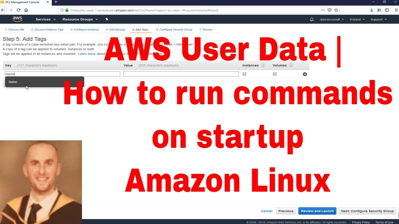 AWS User Data | How to run commands on startup Amazon Linux