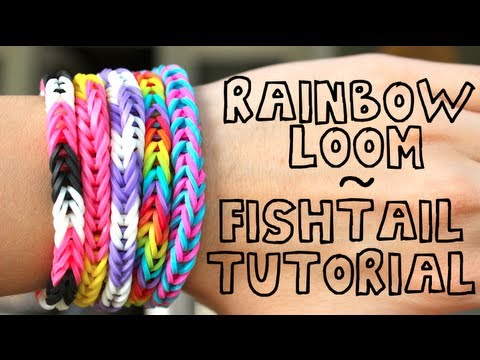 Rainbow Loom Tutorial Fishtail Youtube