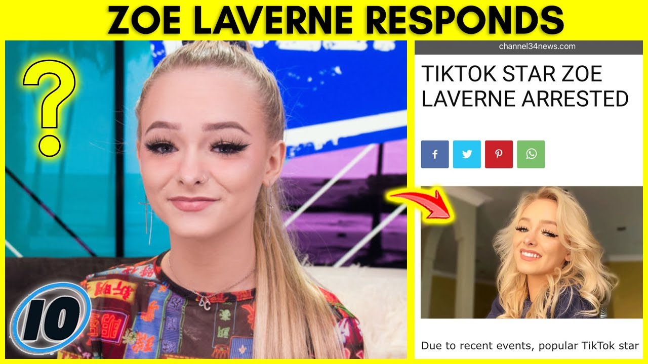 TikTok Star Zoe Laverne Responds To Arrest Rumors