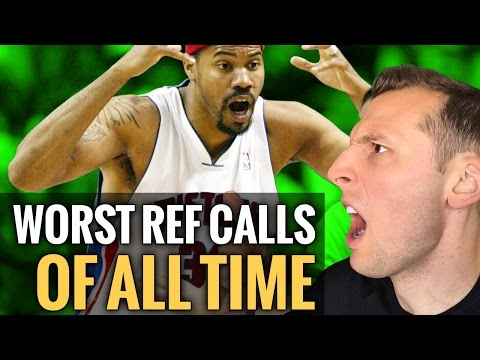 The Worst Calls Of All Time In The NBA...UNREAL!   Basketball Reaction Video