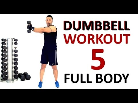 FULL BODY WEIGHTS WORKOUT no.5 with a pair of dumbbells. Interactive Exercises, Weight Training.