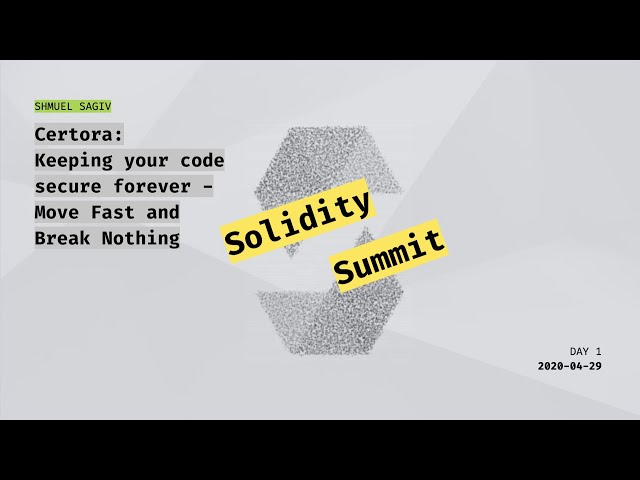 Certora: Keeping your code secure forever: Move Fast and Break Nothing by Mooly Sagiv