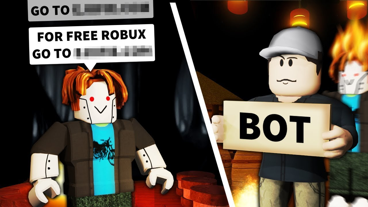 I pretended to be a Roblox SCAM BOT    and get voted off