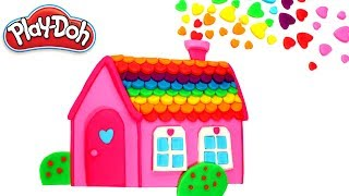 Play Doh House How to Make Rainbow Doll House with Play Doh & Fun Ice Cream Modelling Clay for Kids