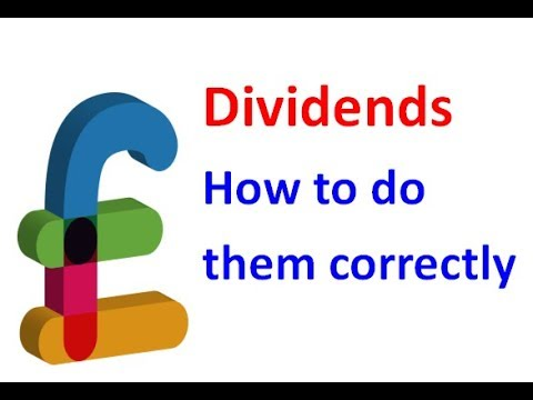 Dividends how to do them correctly barnsley accountant youtube dividends how to do them correctly barnsley accountant yelopaper Choice Image