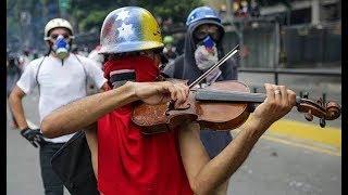 Ջութակով հեղափոխականը վենեսուելական ցույցերի խորհրդանիշ
