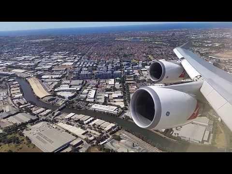 Qantas QF127 B747-400ER Taxi, Takeoff, Climb, Cruise, Holding, Approach and Landing SYD-HKG