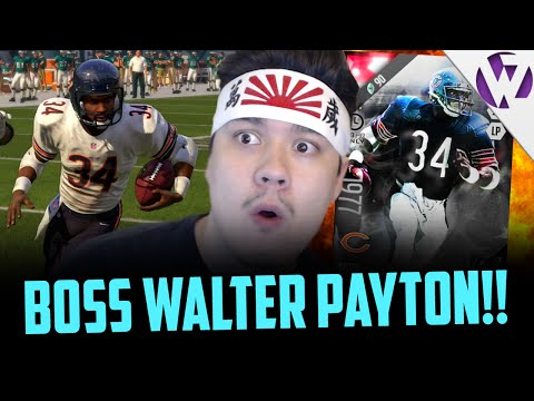 BOSS WALTER PAYTON AS GOOD AS HE LOOKS?? - MADDEN 16 ULTIMATE LEGEND WALTER PAYTON GAMEPLAY