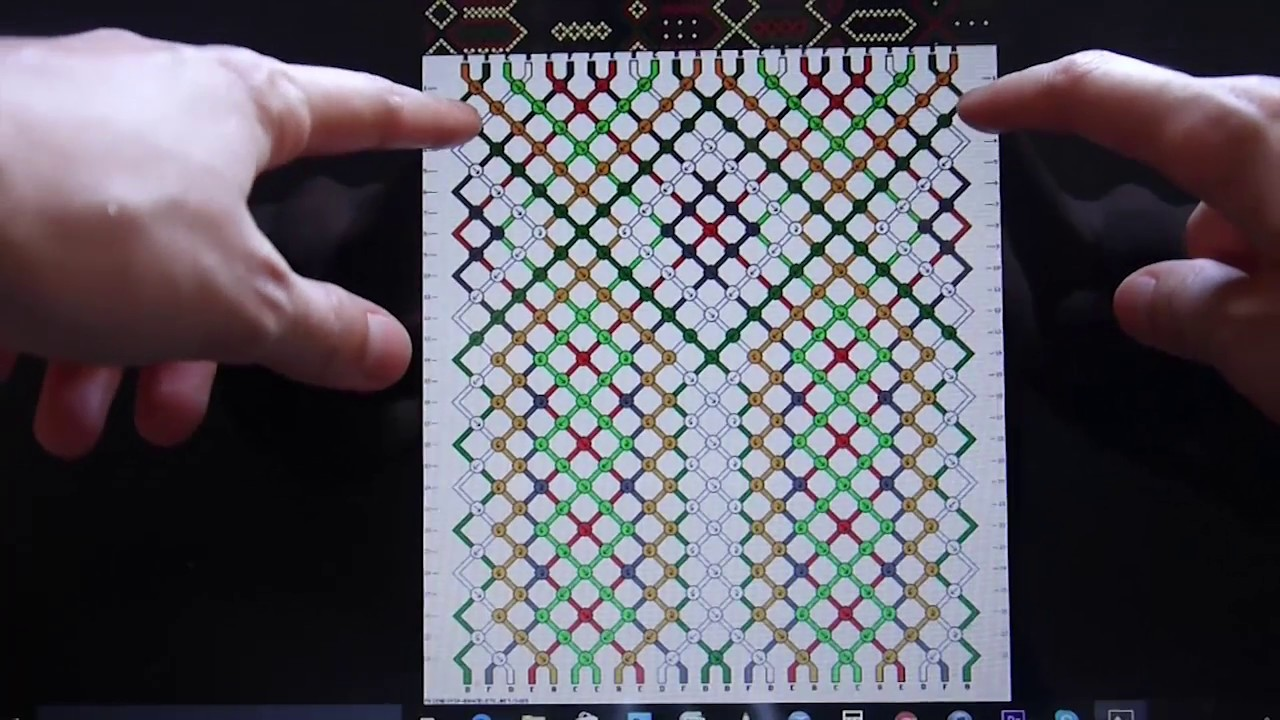 0171cc25fa28 ¿Cómo leer los patrones de macramé?- How to read macamre patterns