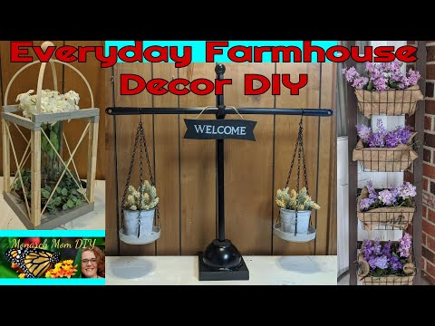 FARMHOUSE HOME DECOR DIY DOLLAR TREE #Kirklandsdupe #kitchenscale #woodlantern