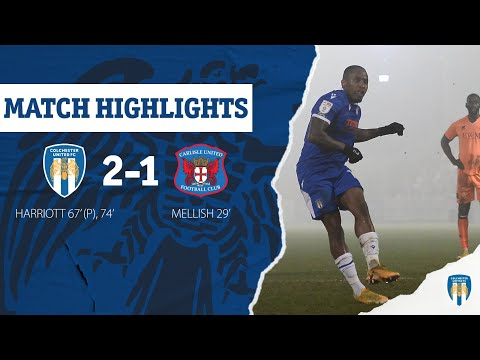 Colchester Carlisle Goals And Highlights