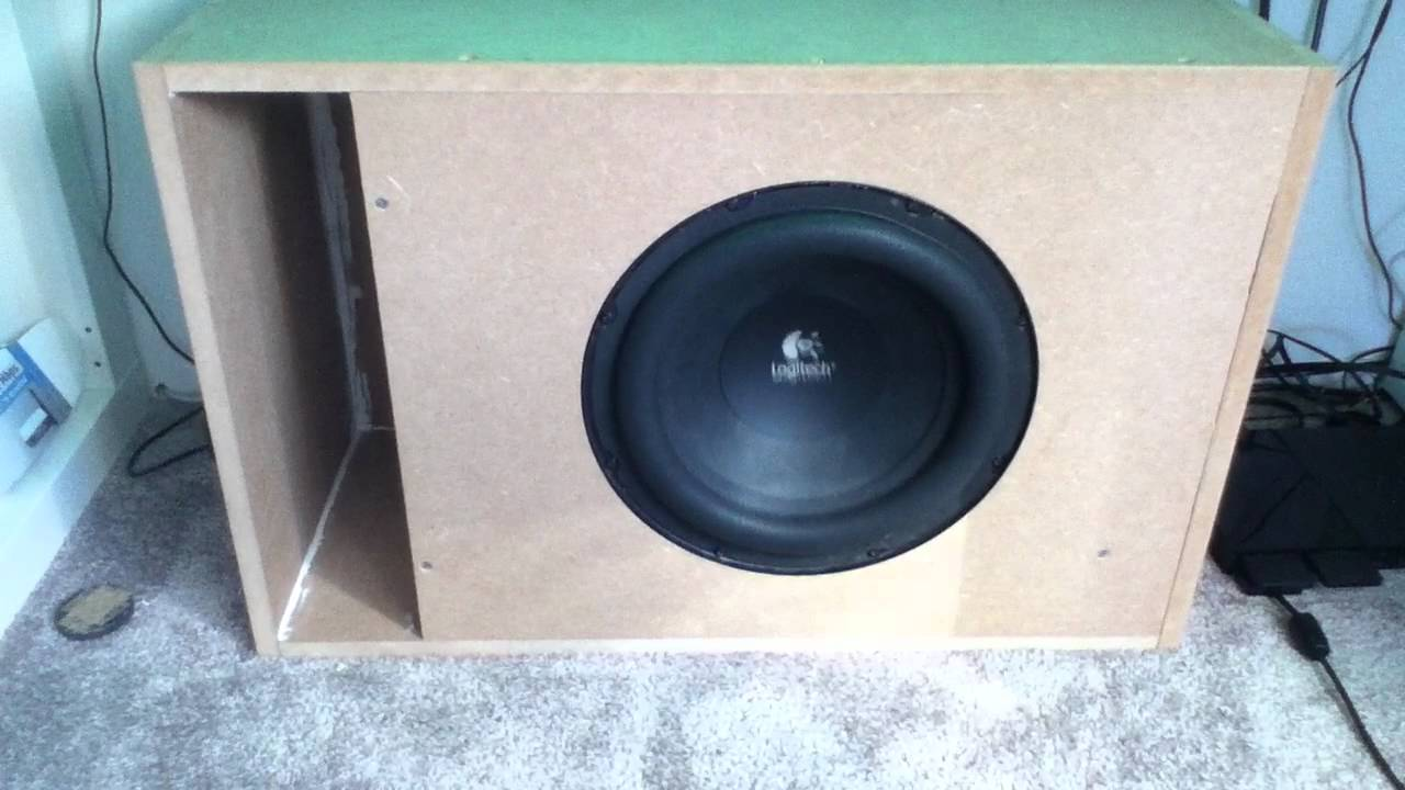 logitech z5500 custom subwoofer box