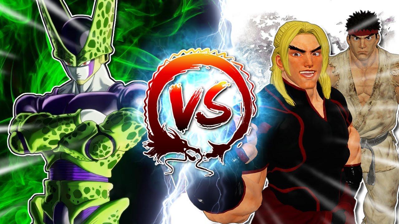 dragon-ball-z-abridged-cell-vs-ryu-ken-cellgames-teamfourstar
