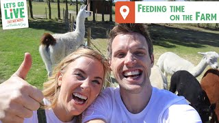 Feeding Time On The Farm | Out & About Ep3 | LET'S GO LIVE with Maddie and Greg