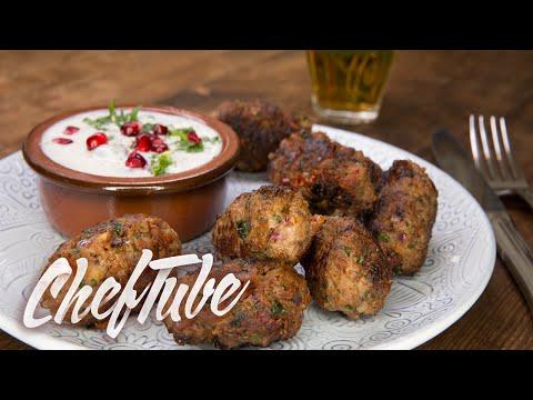 comment-faire-kebab-de-viande-hachée-avec-une-sauce-yaourt---recette-dans-la-description
