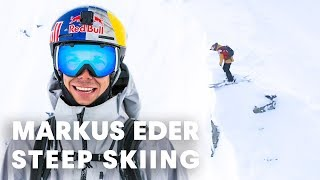 STEEP SKIING: Freeride World Tour 2018 3rd place run with Markus Eder.