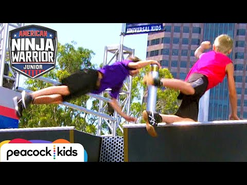Battle For The Buzzer (11-12 Year Old Semifinals) | AMERICAN NINJA WARRIOR JR