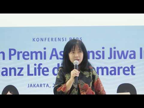 Press Conference Pembayaran Premi Asuransi Jiwa Individu Allianz Life di Indomaret