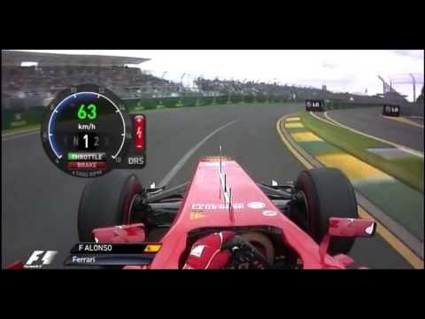Столкновения в игре F1 2013