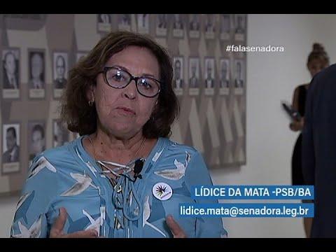 #falasenadora:Lídice aborda projeto que prevê exames médicos a alunos de escolas públicas