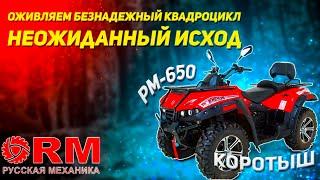 Квадроцикл Русская механика Рм  650 , забытый на 2.5 года , снова оживет? 2-я жизнь квадроцикла Рм?