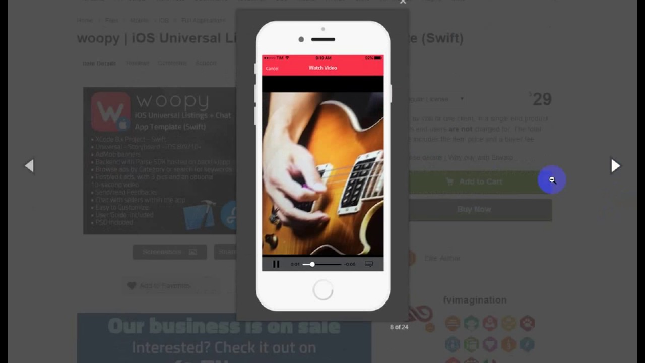 woopy iOS Universal Listings + Chat App Template Swift - YouTube