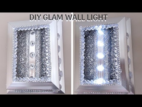 DIY DOLLAR STORE GLAM WALL LIGHT, Home Decor 2019