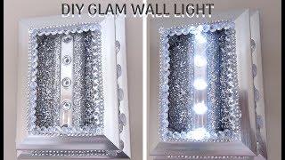 Diy Dollar Store Glam Wall Light, Home Decor 2019