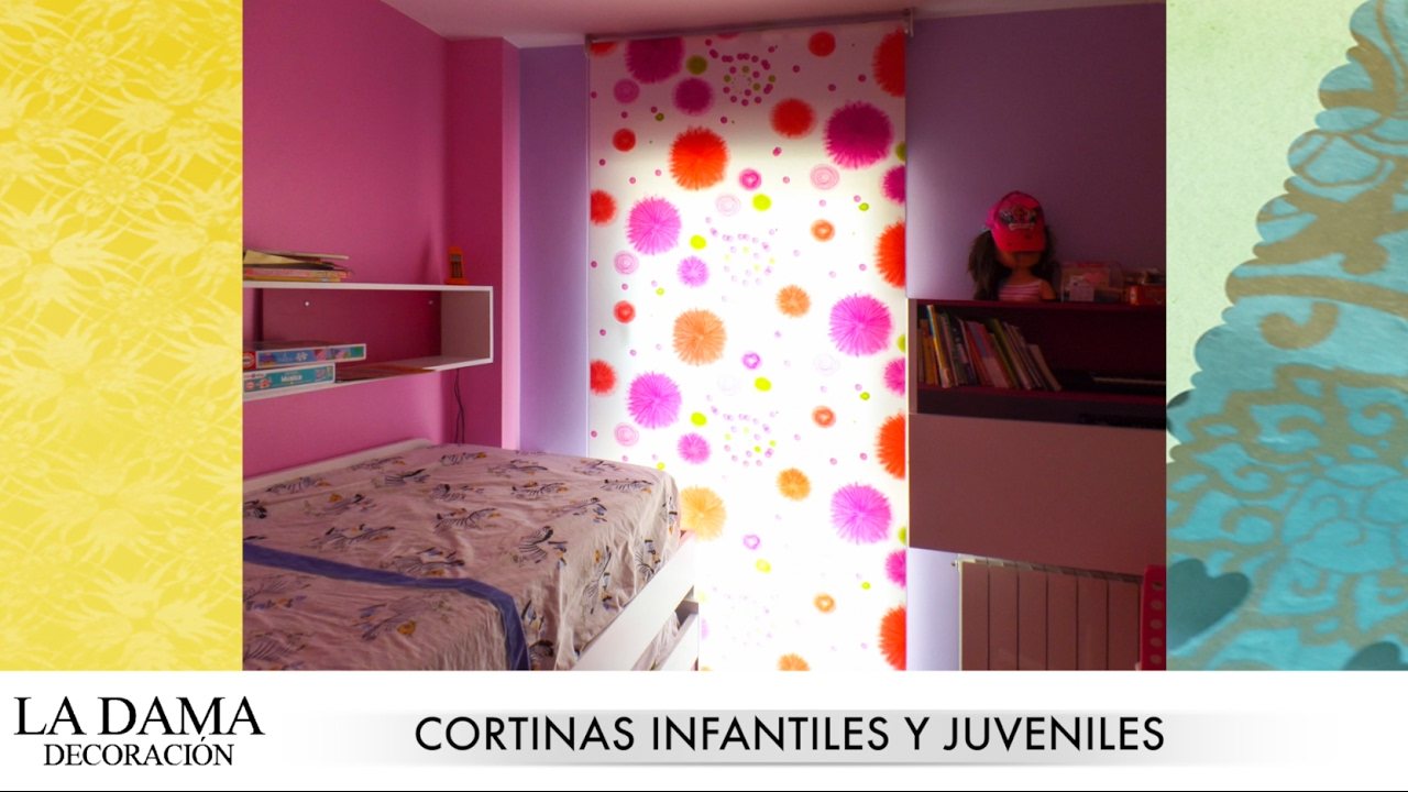 Cortinas infantiles y juveniles youtube for Cortinas infantiles nina