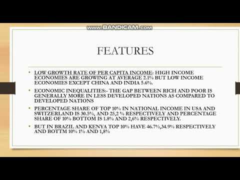 FEATURES OF UNDER DEVELOPED ECONOMIES  DEVELOPMENT ECONOMICS