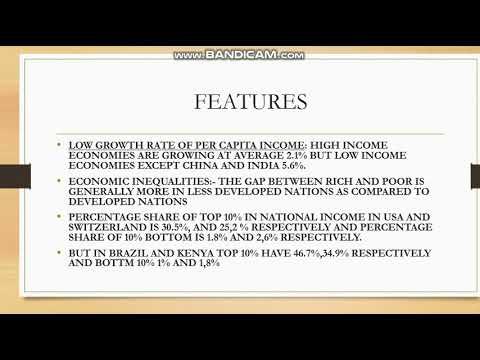 FEATURES OF UNDER DEVELOPED ECONOMIES  DEVELOPMENT ECONOMICS
