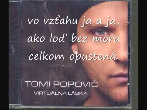 TOMI POPOVIČ- SAM S TEBOU - TEXT KARAOKE.wmv