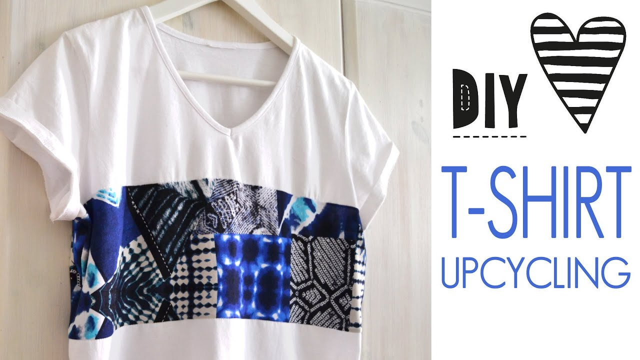 DIY T Shirt Nhen Fr Anfnger Upcycling Oberteil Crop Top
