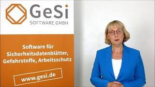 Sicherheitsdatenblätter erstellen mit GeSi³ SDB-Profi Software