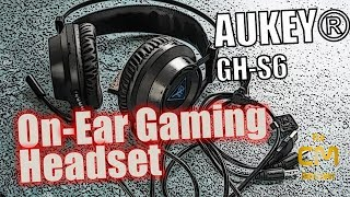 AUKEY GH- S6 Test:  Ein On-ear Gaming Budget Headset - Hands-On (Deu...