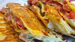 Очень вкусный завтрак за 5 минут / закрытая пицца / бюджетно и вкусно
