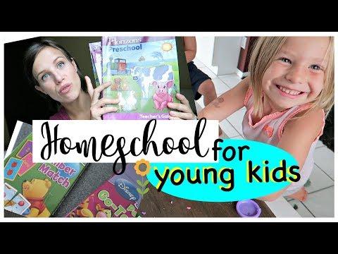 HOW I HOMESCHOOL 3 KIDS! KINDERGARTEN & PRESCHOOL HOMESCHOOLING BASICS & GIVEAWAY!