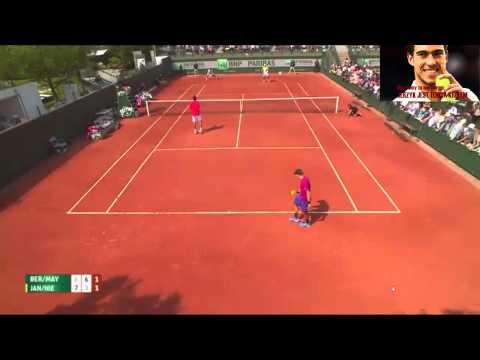ROLAND GARROS 2015: JANOWICZ/NIEMINEN VS BERLOCQ/MAYER  HIGHLIGHTS