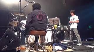 JAMES GADSON sound check, playing