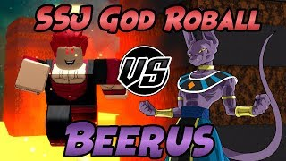 Super Saiyajin GOTT Roball VS Lord Beerus | Roblox | Dragon Ball Z Final Stand